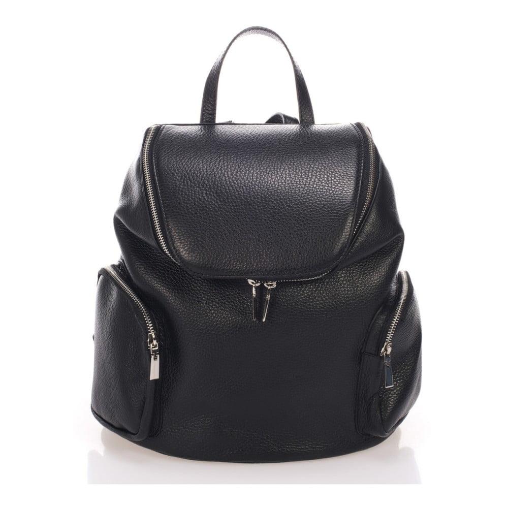 Čierny kožený batoh Lisa Minardi Mardi