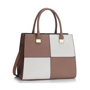Bielo-béžová kabelka L & S Bags Quadrio