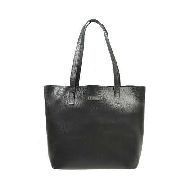 Kožená kabelka Amande, čierna
