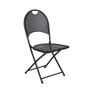 Sada 2 čiernych skladacích kovových stoličiek Crido Consulting Iron