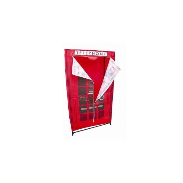 Textilná skriňa na šaty Red Telephone