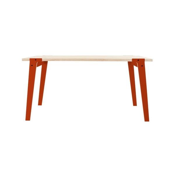 Oranžový jedálenský/pracovný stôl rform Switch, doska 150x75cm
