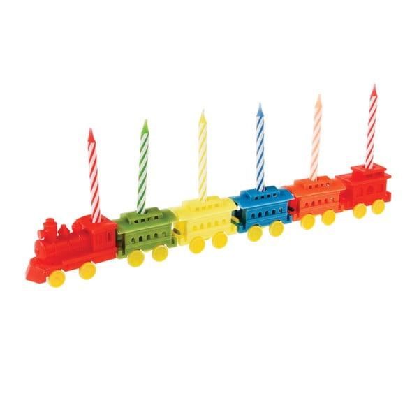 Sada 6 stojančekov na tortové sviečky Rex LondonTrain