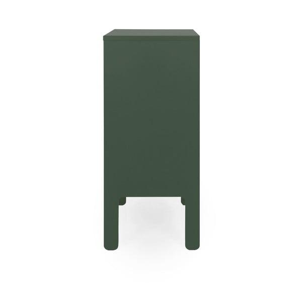 Tmavozelená skriňa Tenzo Uno, šírka 80 cm