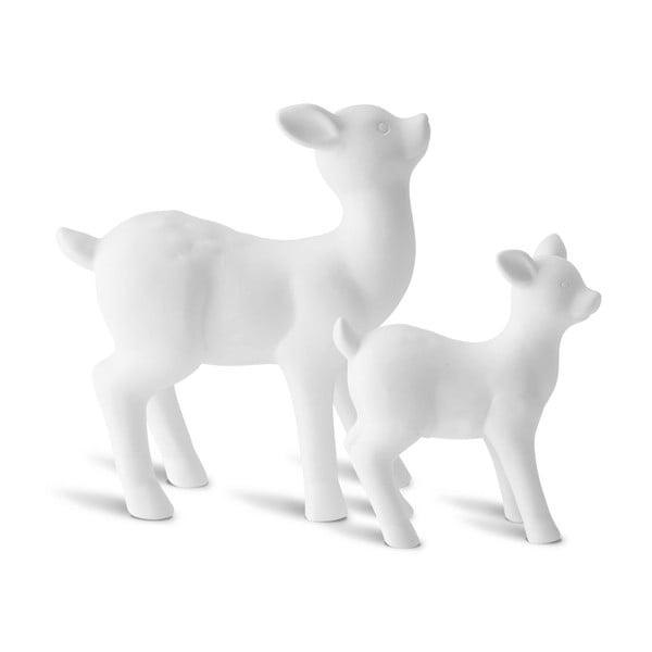 Sada 2 dekoratívnych sobov Deer Mom