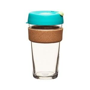 Cestovný hrnček s viečkom KeepCup Brew Cork Edition Thyme, 454 ml