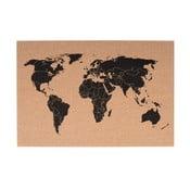 Korková nástenná mapa PT LIVING World, 60×40 cm