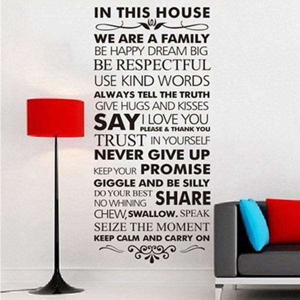 Dekoratívna samolepka In This House, 56x120 cm