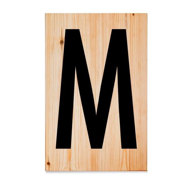 Drevená ceduľa Letters M