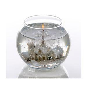 Guľatá Stoneglow sviečka Snowscene, 24 hodín horenia
