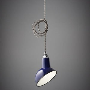 Závesné svetlo Miniature Angled Cloche Midnight Blue