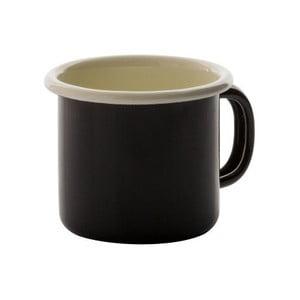 Čierny smaltovaný hrnček na espresso Dexam, 170 ml