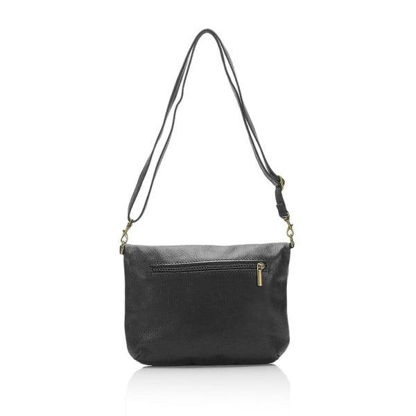 Čierna kožená kabelka Lisa Minardi Renae