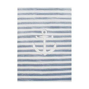 Modrý detský koberec Happy Rugs Little Sailor, 120x180cm