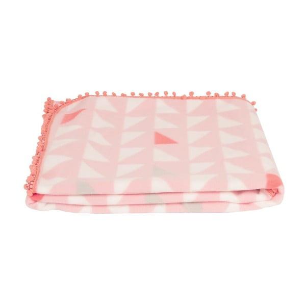 Deka Triangles Pink, 180x150 cm