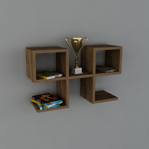 Polica Vita Book Walnut, 22x65,4x40 cm