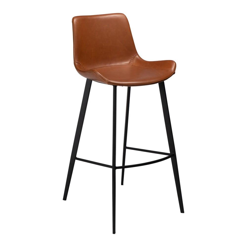 Hnedá barová stolička z eko kože DAN–FORM Denmark Hype, výška 103 cm