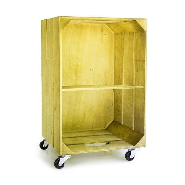 Rustikálna drevená polička Really Nice Things, žltá