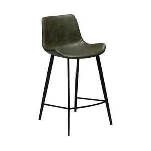 Tmavozelená barová stolička z eko kože DAN–FORM Denmark Hype