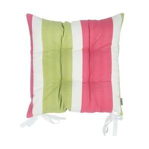 Ružovo-zelený podsedák Apolena Stripes, 43×43cm