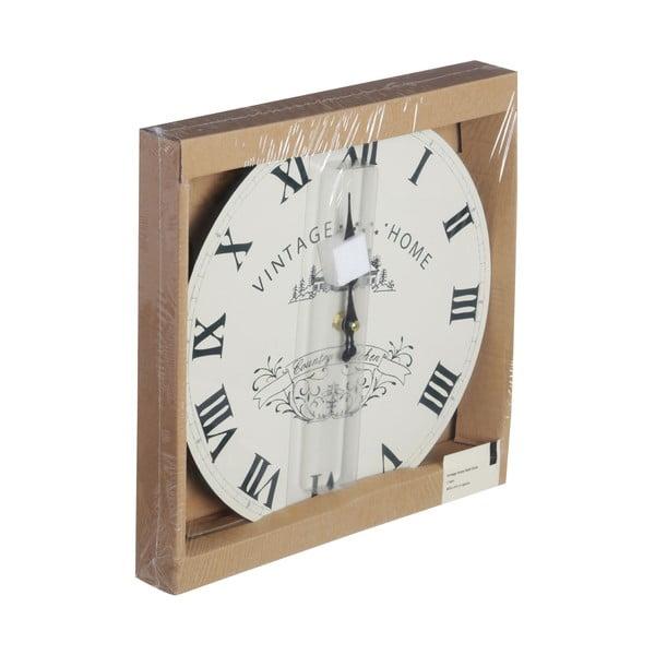 Krémové nástenné hodiny Premier Housewares Vintage Home, 29 cm