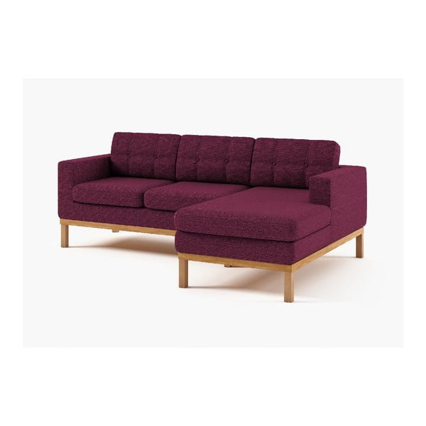 Rohová sedačka Bolton, fialová