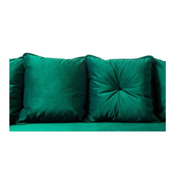 Zelená rozkladacia pohovka Bobochic Paris Hera Bis, ľavý roh