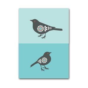 Plagát Vtáčiky modré, malý