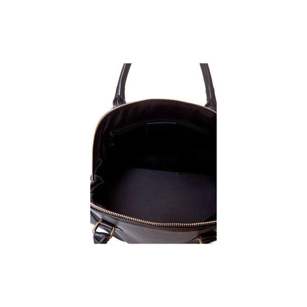 Čierna kožená kabelka Massimo Castelli Atanasio