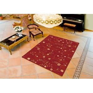 Červený koberec Universal Madras, 80 × 150 cm