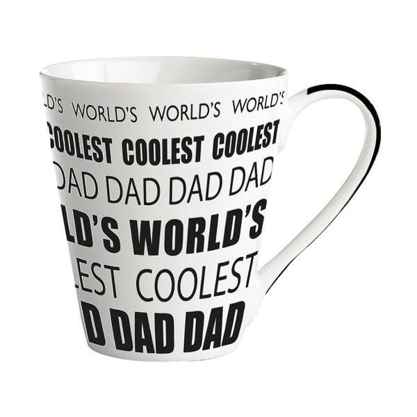 Porcelánový hrnček KJ Collection World's coolest dad, 300ml