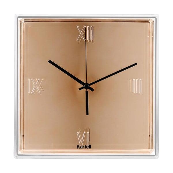 Nástenné hodiny v medenej farbe Kartell Tic Tac