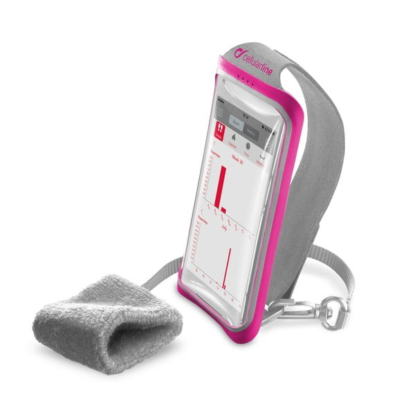 Športové puzdro CellularLine Handband, ružové