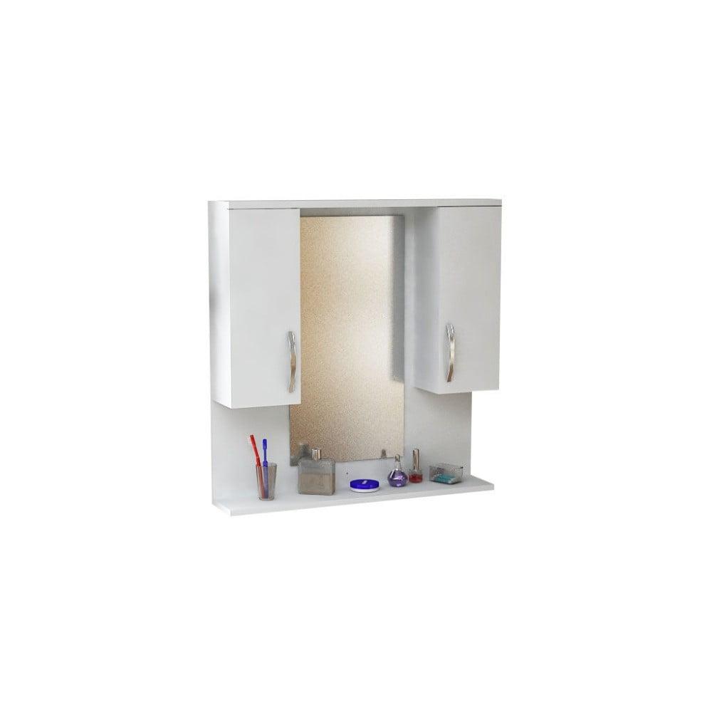 Nástenné zrkadlo s poličkou Boxy
