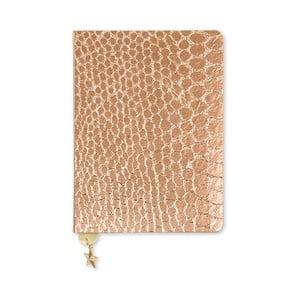 Zápisník A6 v bronzovej farbe GO Stationery All That Glitters Croc