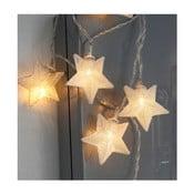 Svietiaca LED reťaz Best Season Net Stars Silver