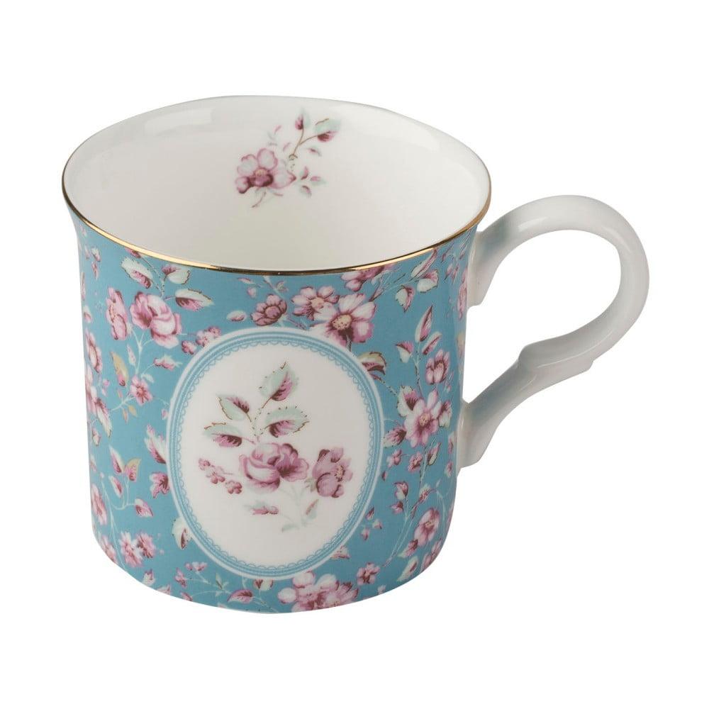 Modrý porcelánový hrnček Creative Tops Ditsy, 230 ml