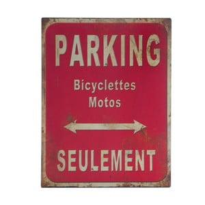 Kovová ceduľa Parking, 25x33 cm