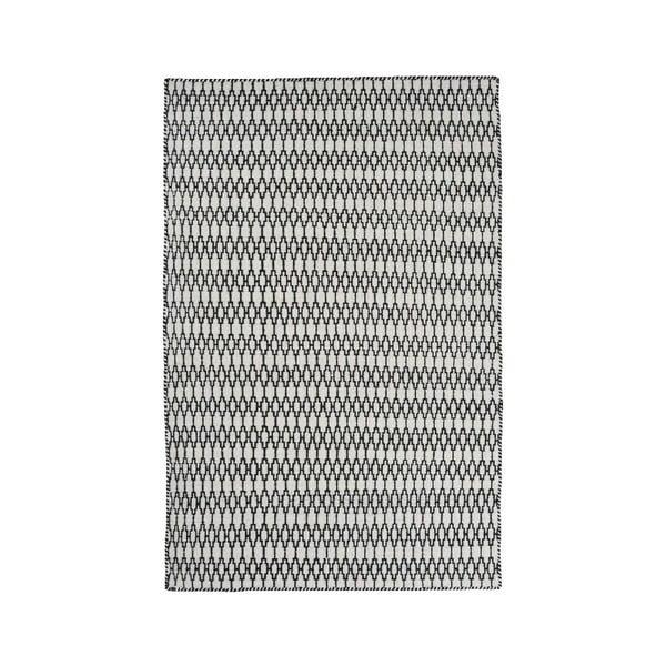 Vlnený koberec Linie Design Elliot White Black, 200x300 cm