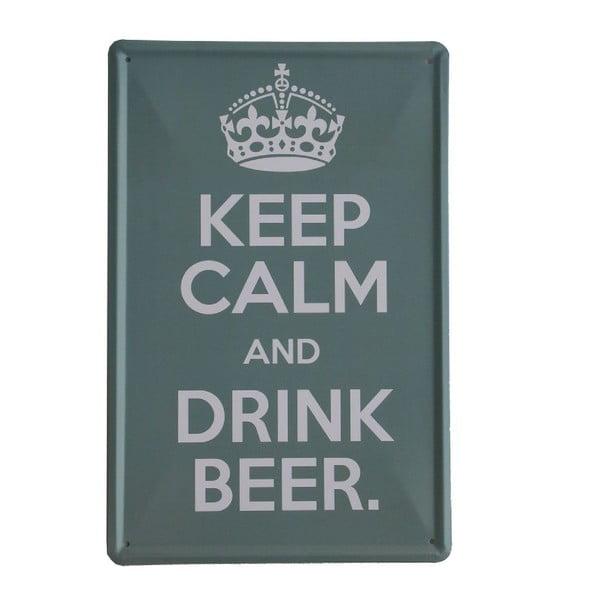 Ceduľa Drink Beer, 20x30 cm