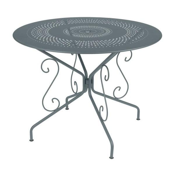 Tmavosivý kovový stôl Fermob Montmartre, Ø96cm