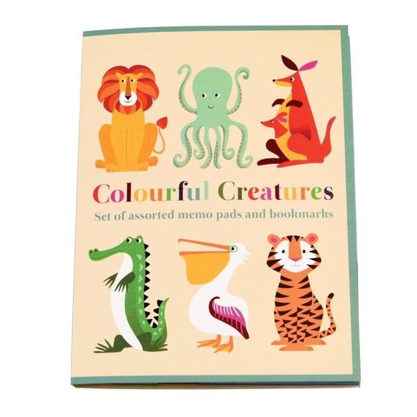 Sada 7 lepiacich bločkov Rex London Colourful Creatures