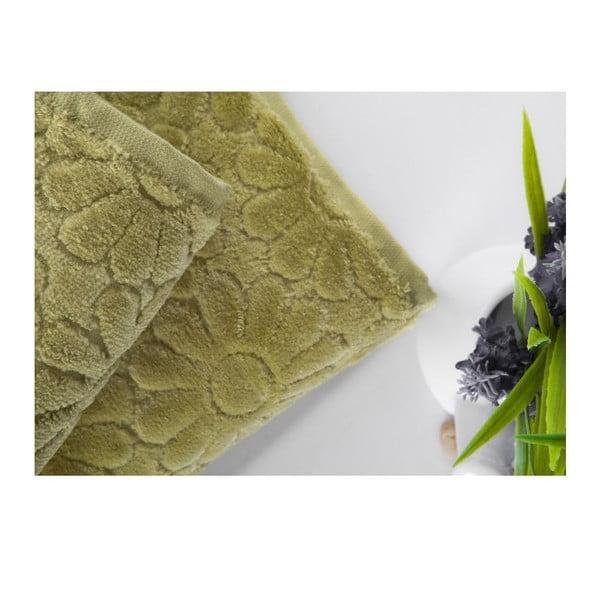 Sada uteráka a osušky Samba Green, 50x90 cm a 70x140 cm