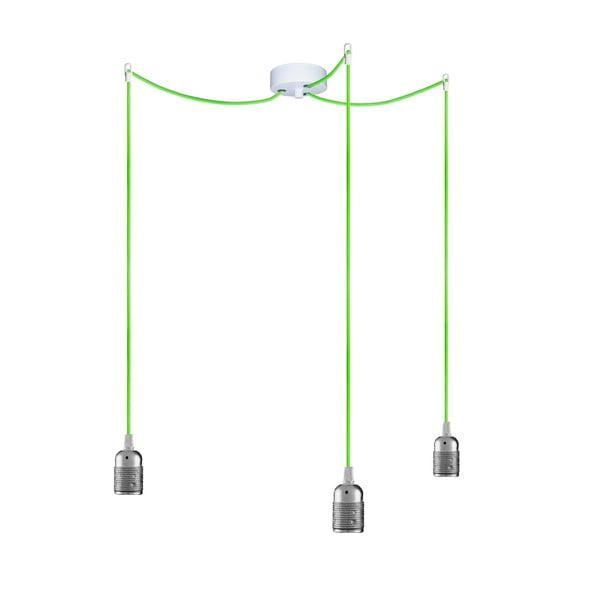 Tri závesné káble Uno, strieborná/zelená/biela