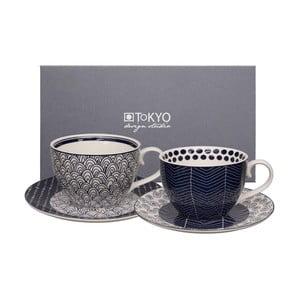 Sada 2 hrnčekov s tanierikom Tokyo Design Studio Cappuccino Scale/Web
