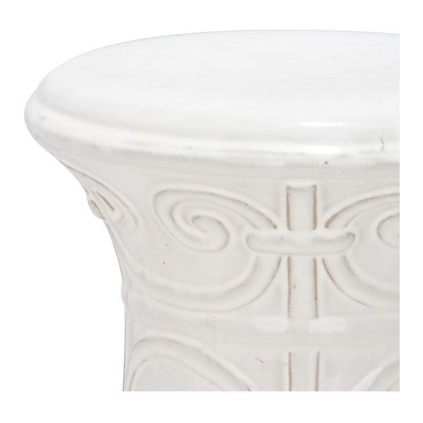 Biely porcelánový stolík Safavieh Imperial Scroll White
