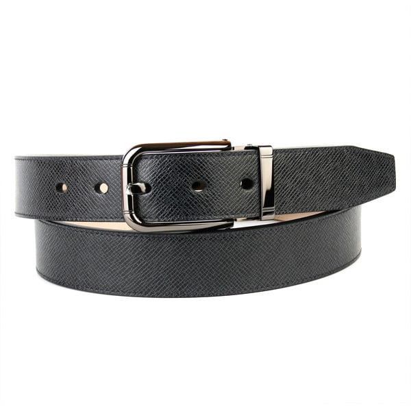 Pánsky kožený opasok 3PY10 Black, 110 cm