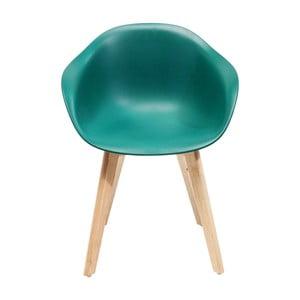 Sada 4 tyrkysových stoličiek Kare Design Forum