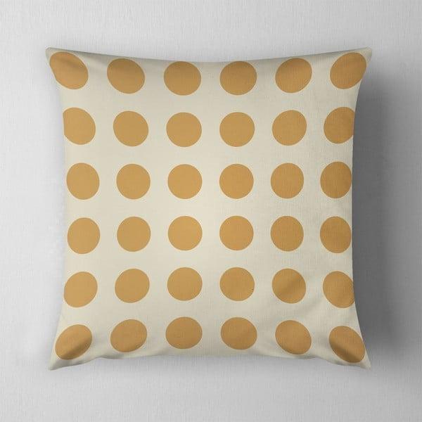 Vankúš Big Yellow Dots, 43x43 cm