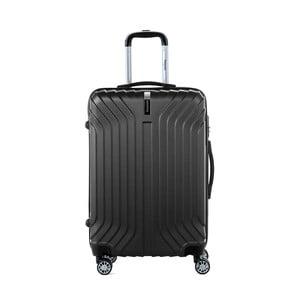 Čierny cestovný kufor na kolieskách s kódovým zámkom SINEQUANONE Elisabeth, 71 l